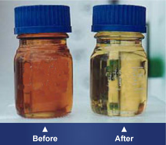 Before and After Transformer Oil Regeneration